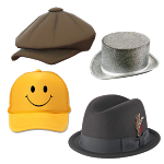 Boy Hats Stickers